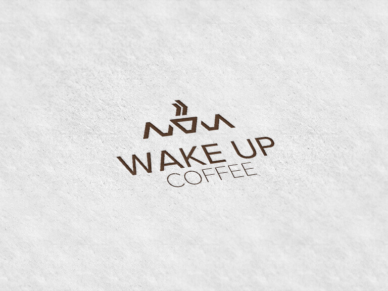 Wake UP Coffee - Projekt logo